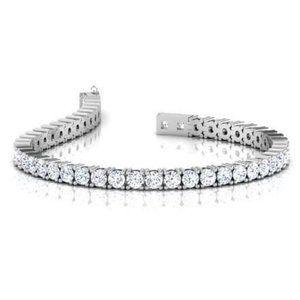 4.85 Carats round brilliant cut diamonds Tennis br